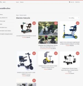 online scam Facebook electric scooter fake website